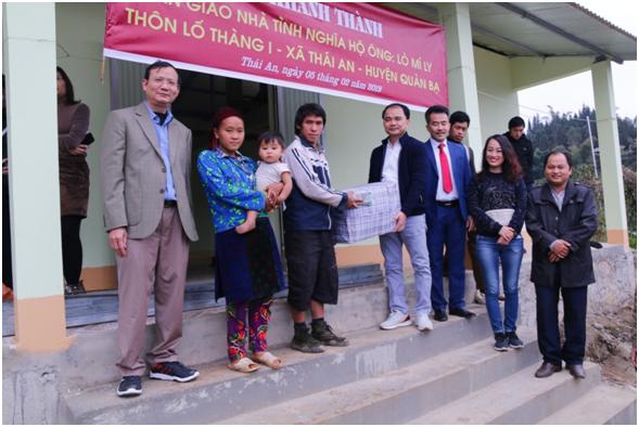 VAMC trao tặng nhà tình nghĩa cho hộ nghèo tại huyện Quản Bạ, tỉnh Hà Giang