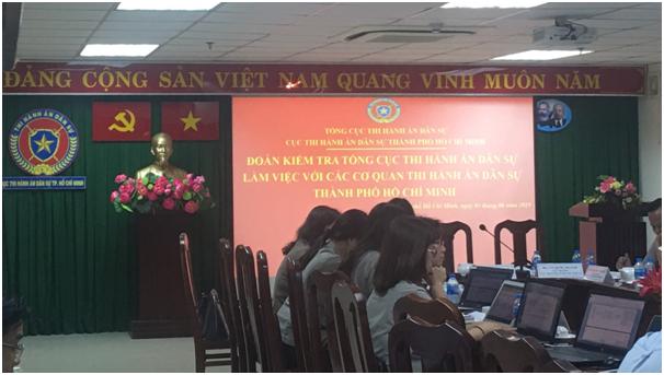 Tổng cục Thi hành án dân sự làm việc với VAMC về khó khăn, vướng mắc trong công tác THADS tại TP Hồ Chí Minh